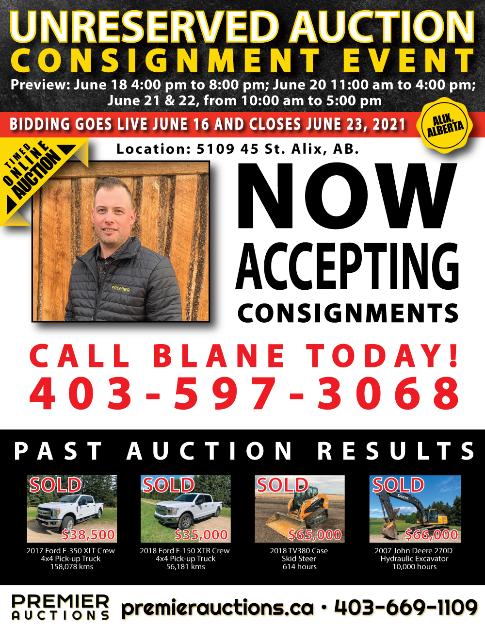 Consignment Auction June 23, 2021