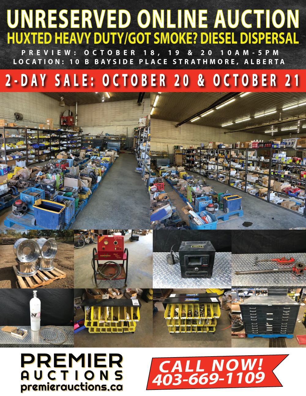 Huxted Heavy Duty Sale October 21, 2021